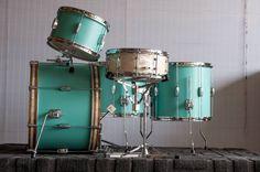 C Custom drums Turquoise