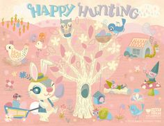 easter printable activity placemat by Jill Howarth for happy happy art collective