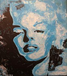 """""""Marylin"""", Acryl on wood, 45cmx40cm"""