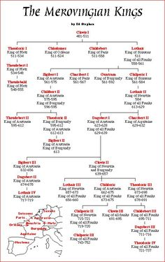 Merovingian Bloodline and The Black Nobility French History, European History, British History, World History, Ancient History, Family History, Ancient Myths, Genealogy Chart, Genealogy Research