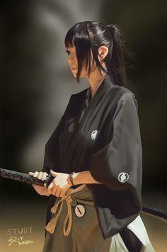 Samurai Girl Study, Sean Tay on ArtStation at https://www.artstation.com/artwork/DwEqR