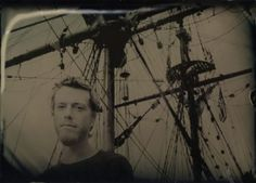 Capt. JB Morrison of tall ship Hawaiian Chieftain. This is actually a modern photo produced with a 19th-century technique. #travel #sailing #ships