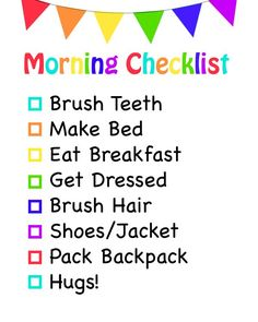 Help your mornings run smooth with a free printable morning checklist for kids to remind your kids what they need to do next. Plus quick breakfast ideas.