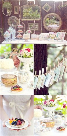 .   Unique Vintage food presentation Dessert cakes with Frames very romantic for Wedding Event
