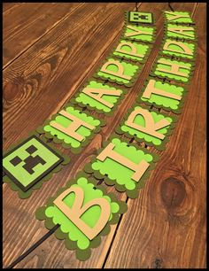 A personal favorite from my Etsy shop https://www.etsy.com/listing/252448414/minecraft-themed-birthday-banner