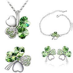 Smileforever Austrial High Grade Crystal Chain Earrings Ring Bracelet-Lucky Clover(C3) by SmileForever - See more at: http://blackdiamondgemstone.com/colored-diamonds/jewelry/smileforever-austrial-high-grade-crystal-chain-earrings-ring-braceletlucky-cloverc3-com/#sthash.3i2rcKSf.dpuf