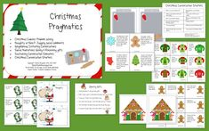 The ChristmasPragmatics Packet is 28 pages and includes activities for problem solving, judging social comments, initiating conversations, giving & receiving gifts, sustaining conversation and a set of conversation starters.
