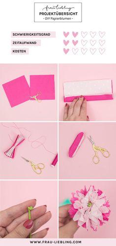 DIY decoration: make paper flowers quickly and easily – Towel Ideas 2020 Diy Letters, Flower Letters, Paper Flowers Diy, Diy Paper, Embroidered Towels, How To Make Paper, Lettering, Napkins, Diy Blog