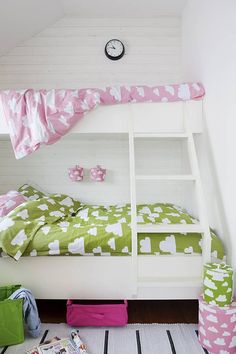Bunks for girls ideas. Check out our other kids furniture & decor ideas: http://www.under5s.co.nz/shop/Babies+%26+Kids+Gear/Furniture+%26+Decor.html
