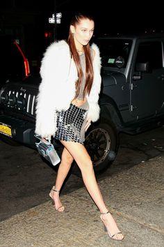 Bella Hadid makes 20 look haute and shiny.