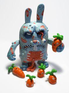 Michael Hacker zombie rabbit custom toy ftw!