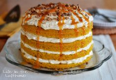 This is a Pumpkin Torte. Isn't shea beaut? :)I servedthisto our friends we had over for dinner last Friday night. When I took it out of the fridge to serve ever...