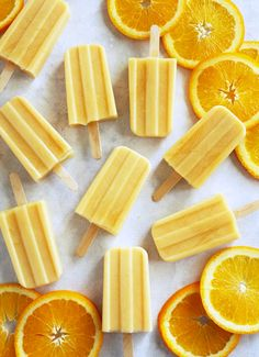 Healthy Creamsicle Popsicles