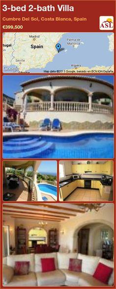 3-bed 2-bath Villa in Cumbre Del Sol, Costa Blanca, Spain ►€399,500 #PropertyForSaleInSpain