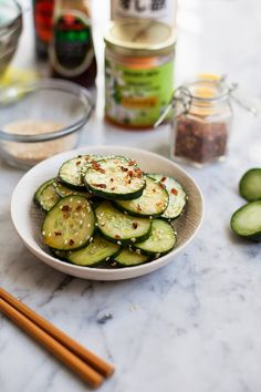 Asian Cucumber Salad / blog.jchongstudio.com