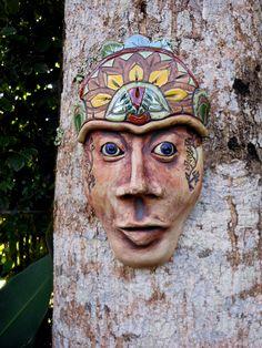 Garden+Goddess+Ceramic+Mask+by+Uturn+on+Etsy,+$65.00