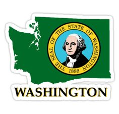 Sticker for the state of Washington.