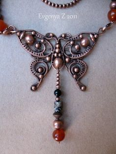 wire, beautiful! - could adapt for dragonfly, too