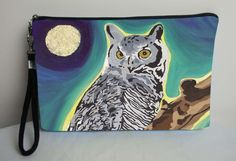 Owl Pouch with detachable strap  From my Original by SalvadorKitti, $24.95