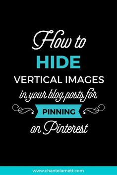 How to Hide Vertical