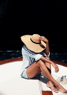 dustjacketattic:  striped shirt & hat | sincerely jules