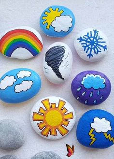 Creative Ideas for Making Painted Rocks & Stones  <br> Stone Crafts, Rock Crafts, Arts And Crafts, Rock Painting Designs, Acrylic Painting Tutorials, Rock Painting For Kids, Rock Design, Deco Marine, How To Make Paint