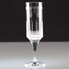 1 Sektglas Fluted Champagne Crystal Glass Ballets Russes by Cartier R6U