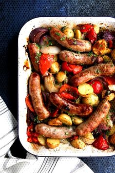 #ovenroasted #potatoes #sausage #and Oven-Roasted Sausage and PotatoesYou can find How to cook sausage and more on our website.Oven-Roasted Sausage and Potatoes