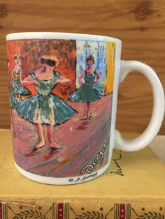 Degas Mug Chaluer Master Impressionists by D. Burrows Gift For Art Lover Collect