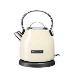 Dome style kettle with 1.25L capacity - quickly boils water with a compact footprint  On/Off switch with LED indicator light - visual feedback and simple to use  Stainless steel construction with inner water level markings, wide fill opening, non-drip spout and smooth aluminium lid - durable, stable, easy to grip and use  Removable limescale filter, 360® base and aluminium lid - for easy cleaning and transfer of the kettle  Powerful 1500W  KitchenAid 2 Year Guarantee