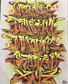 Graffiti Lettering Alphabet, Graffiti Writing, Tattoo Lettering Fonts, Graffiti Font, Graffiti Artwork, Graffiti Piece, Graffiti Pictures, Best Graffiti, Graffiti Styles