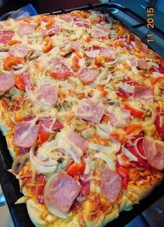 Domowa pizza - Another! Pizza Recipes, Appetizer Recipes, Dinner Recipes, Cooking Recipes, B Food, Food Porn, Greek Chicken And Potatoes, Czech Recipes, Happy Foods