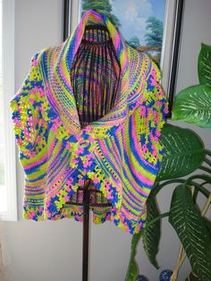 READY TO SHIP /Gorgeous Handmade Hand Knit and Crochet by ufer, $100.00
