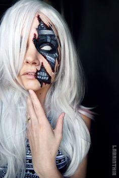 Cyborg makeup by labrinthia on DeviantArt