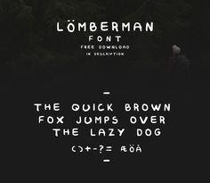 Lumberman Font / Free font / #vintage #handwritten