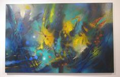 Reencuentro fuera de la ruta Óleo sobre lienzo 90 x 140 cms 2012 Colección privada