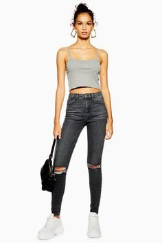 4cbba4d219 22 best Black ripped jeans images in 2017 | Fashion clothes, Woman ...