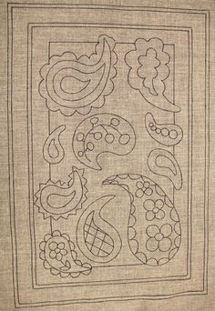 Affordable Embroidery Near Me Embroidery Floss Kit! Rug Hooking Designs, Rug Hooking Patterns, Quilt Patterns, Bordado Paisley, Paisley Rug, Crewel Embroidery, Embroidery Patterns, Hook Punch, Punch Needle Patterns