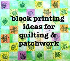 You can recycle old fabric to make a wonderful block printed patchwork quilt. Watch our video for inspiration and ideas.  Choose the printing blocks for you  http://colouricious.com/block-printing-shop/block-printing-wooden-printing-blocks-stamps/