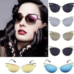 15ede21783b1 Fashion Metal Frame Sexy Cat Eye Sunglasses For Women Vintage Sunglasses  beauty in Clothing