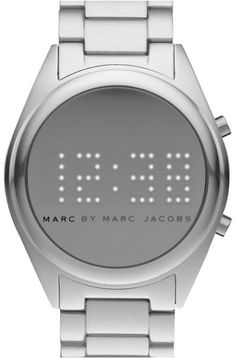 MARC BY MARC JACOBS  Silver Chuck Digital Watch