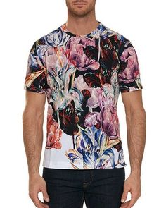 05765486dee Robert Graham Men s Eddystone Floral Cotton T-Shirt Robert Graham