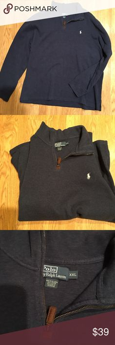 Polo by Ralph Lauren Polo by Ralph Lauren..long sleeve sweater with zipper...size 2XL...very good condition...see pics Polo by Ralph Lauren Sweaters Zip Up