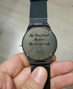 engraved wooden watch valentines day gift by paperonly on Etsy