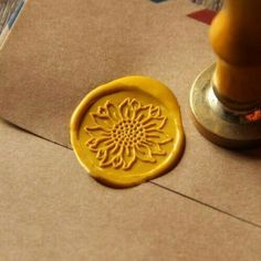 Cheap sealing wax seals, Buy Quality wax stamp directly from China wax seal Suppliers: Sunflower Wax Seal Stamp/ flower Sealing Wax Seal/wedding Wax Stamp My Favorite Color, My Favorite Things, Wax Seal Stamp, Happy Colors, Mellow Yellow, Mustard Yellow, Dragon Age, Van Gogh, Fancy