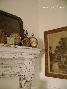 Vintage alarm clock vignette