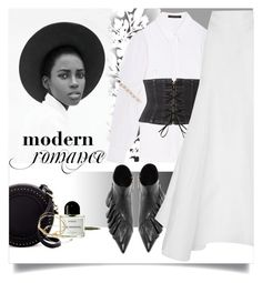 """""""Pure with a touch of dark"""" by laste-co ❤ liked on Polyvore featuring Élitis, Mother of Pearl, J.W. Anderson, Witchery, Stila, Byredo, Urban Expressions and Sydney Evan"""