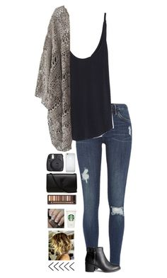 fall is officially here!! xx by laynie1026 on Polyvore featuring Zara, Mes Demoiselles..., River Island, H&M, Yves Saint Laurent, Urban Decay, OPI and Fuji