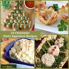 Get ready for Christmas with 24 Christmas Party Appetizer Recipes!