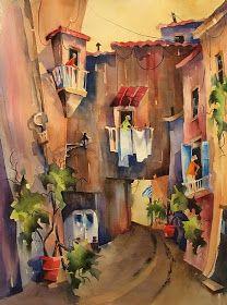 Watercolors. Italy